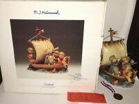 "Goebel Hummel ""Land in Sight "" 530  Signed Limited Edition TMK7  COA Medallion"
