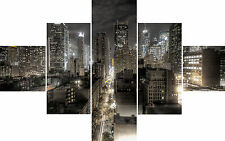 Large 5 Piece Set New York Colour Canvas Pictures Quality Ready to Hang on Wall
