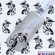 Beauty nail art decorations tool water transfer fingernail stickers Black BL1833