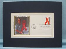Honoring AIDS Awareness & Research and the First day Cover of its own stamp