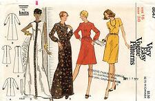1970's VTG VOGUE Misses' Dress   Pattern 8647 Size 16
