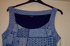 "Roman Originals ""Blue Geo Burnout""/multi blue midi dress - size 18"