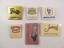 Las Vegas Matchbook Lot Imperial Palace Golden Nugget Union Plaza Jeremiah Steak