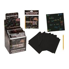 Magic Paper Scratch It Scraper Rainbow Art Message Note Sheets Craft Novelty Fun