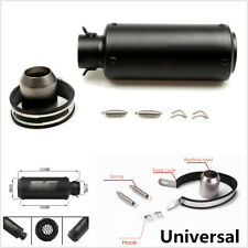 Modified 51mm Inlet Universal Motorcycle Exhaust Muffler Pipe Silencer With Net