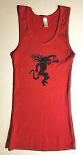 Fireball Cinnamon Whiskey Women's Tank Top Red Size Small NWT Bar volleyball