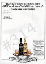 WILLIAM LAWSON'S SCOTCH WHISKIES ADVERT 1983 Whisky Advertisement