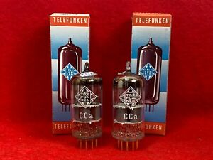 A pair like new tested CCa Telefunken <> ( E88CC / 6922 ) with same code