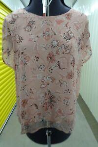 Ladies Vila pink floral top size 16
