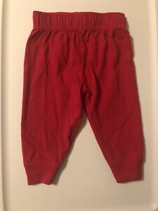 Red 3-6M Baby Boy pull up pants By Garanimals