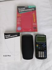 Texas Instruments Ti-83 Plus Graphing Calculator w/Cover & Manuel Upgradeable