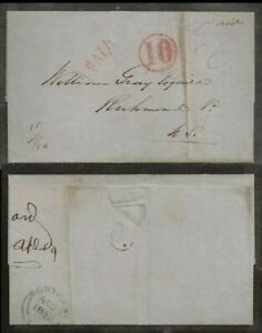 CANADA Stampless Montreal 1854 Circle 10 PAID