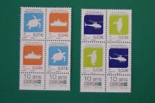 TAAF 2016 - 2 Séries courantes de 4 timbres  : TORTUE/HELICOPTERE/MANCHOT/BATEAU