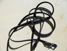 Black Eventa Reins in Special Order Lengths w/Buckle Ends