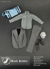 """The J Bank Robber 1/6 Scale Joker Clothing Sets For 12"""" Male Body Model PC002"""