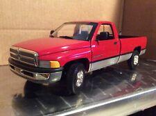 1996 Dodge Ram 2500  pickup truck  red v10  ERTL 1/18 loose
