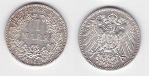 1 Mark Silber Münze Kaiserreich 1903 G vz (148740)