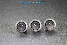 3 Pcs Round On Off Rocker Switch Mini Toggle 12v 20 Amp 34 Mount Hole Ec 1213