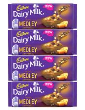 912266 4 x 93g BLOCKS OF CADBURY MEDLEY! CHOCOLATE, BISCUIT AND FUDGE PIECES!