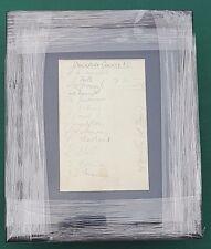 """1937-38 Stockport County FC firmato montato Album pagina di visualizzazione 11"""" x 9"""" FRAME"""