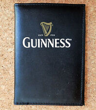 Guinness travel wallet credit card ID passport holder black faux leather