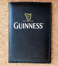 Guinness Viaje Cartera Porta Pasaporte ID de tarjeta de crédito Negro de cuero de imitación