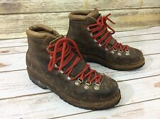 Vintage Fabiano Men's Hiking & Mountaineering Brown Leather Boots Size 9 M