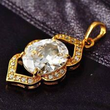korean jewellery Gold Plate rhinestone pendant womens for necklace chain
