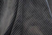 "Heavy velvet (valour) fabric, non-stretch black stripe £5.95/m 1.50m/60"" wide"