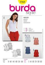 Burda SEWING PATTERN 7769 Vest/Waistcoat Sizes 12-32