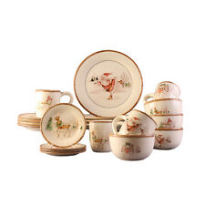 20-piece Dinner Set Dinnerware Serving Dishes Dining China Holiday Christmas