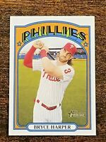 2021 Topps Heritage BRYCE HARPER Team Name COLOR SWAP VARIATION #13 Phillies