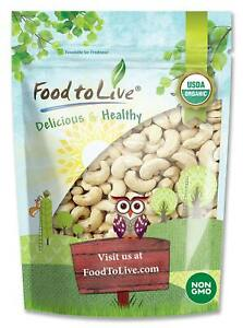 Organic Cashews by Food To Live ® (Non-GMO, Whole, Raw, Kosher, Vegan, Unsalted)