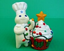 2013 Danbury Mint Pillsbury Doughboy Christmas Cupcake Porcelain Figurine Fship!