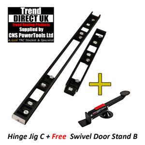 BRAND NEW TREND 2 PART ROUTER SKELETON HINGE JIG H/JIG/C + DOOR LIFTER D/LIFT/B