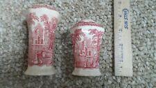 Mason's Ironstone China Vista Pink Salt and Pepper Shakers