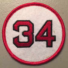 DAVID ORTIZ BOSTON RED SOX RETIRED JERSEY NUMBER 34 PATCH