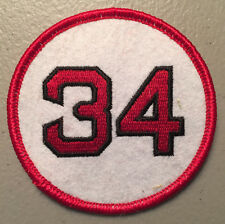 DAVID ORTIZ BOSTON RED SOX JERSEY NUMBER 34 PATCH