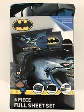 Batman FULL Sheet Set Microfiber Guardian Speed DC Comics 4 Piece Set