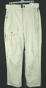 Kemper Mens Size L Large Beige Full Side Zip Up Cargo Winter Ski Snowboard Pants