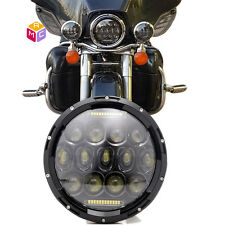 7inch LED HEADLIGHT Daymaker BULB Fit HARLEY FATBOY HERITAGE SOFTAIL DELUXE FLST