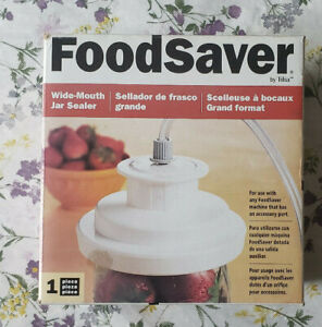 NEW  ~ Foodsaver By Tilia ~ Mason Jar Vacuum Sealer. Wide Mouth.