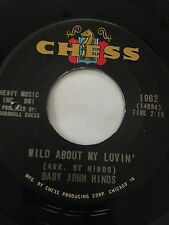 """RARE SOUL GARAGE 45/ BABY JOHN HINDS """"WILD ABOUT MY LOVIN""""  VERY CLEAN   HEAR"""