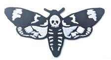 Death Head Moth Embroidered Patch Occult Mystic Lecter Skull Biker Iron O