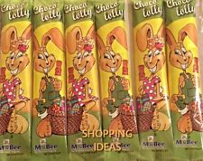 6 X CHOCOLATE BUNNY LOLLIES CHOCO LOLLY EASTER MILK CHOCOLATE party bag fillers