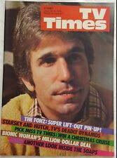 TV TIMES,1976 JULY 10 ~ The Fonz Cover, Bionic Woman Lindsay Wagner ~NM~