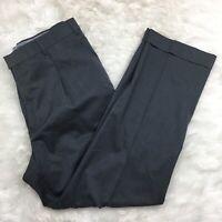 Hart Schaffner Marx Men's Gray Wool Dress Pleated Front Work Pants Size 36R