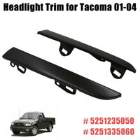 Front Bumper Grille Headlight Lamp Filler Trim Set for Toyota Tacoma 2001-2004