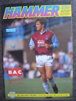 1991...WEST HAM UNITED v MILLWALL......Division Two......Football Programme