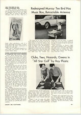1962 PAPER AD Murray Tee Bird Toy Play Pedal Car Article